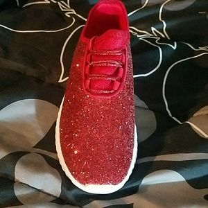 Forever 21 Shoes - NEW WOMENS RED GLITTER SEQUINS SNEAKERS SHOES FIRM